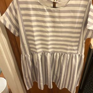 Dresses & Skirts - Striped short sleeve sun dress - with open back
